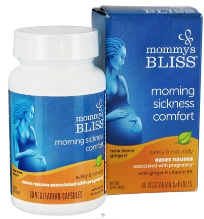 DROPPED: Mommy's Bliss - Morning Sickness Magic - 60 Vegetarian Capsules formerly Baby's Bliss