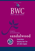 DROPPED: Beauty Without Cruelty - Organic Beauty Bar Sandalwood - 4 Oz.