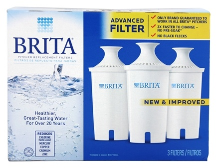 Brita - Water Pitcher Replacement Water Filters - 3 Filter(s)