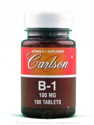 DROPPED: Carlson Labs - B-1 100 mg. - 100 Tablets