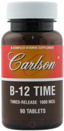 DROPPED: Carlson Labs - B-12 Time B-Complex Vitamin Timed-Release 1000 mcg. - 90 Tablets
