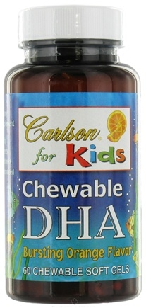DROPPED: Carlson Labs - Kids DHA Chewable Orange Flavor - 60 Softgels CLEARANCE PRICED