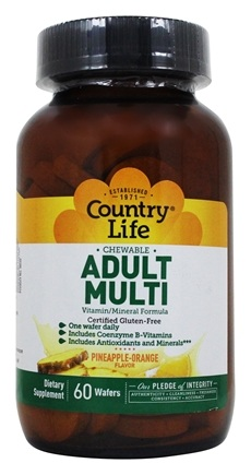Country Life - Chewable Adult Multi - 60 Wafers