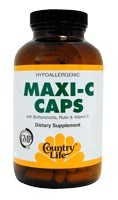 DROPPED: Country Life - Maxi-C Caps with Bioflavonoids, Rutin, and Vitamin C 1000 mg. - 60 Capsules