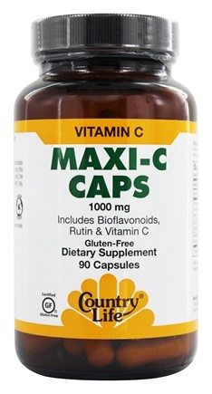 Country Life - Maxi-C Caps Vitamin C 1000 mg. - 90 Capsules