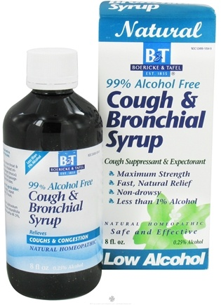 DROPPED: Boericke & Tafel - Bronchial Cough Syrup 99% Alcohol Free - 8 oz.