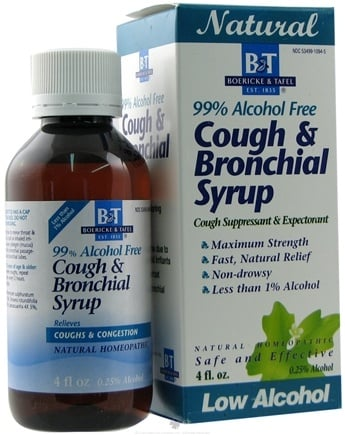 DROPPED: Boericke & Tafel - Bronchial Cough Syrup 99% Alcohol Free - 4 oz.