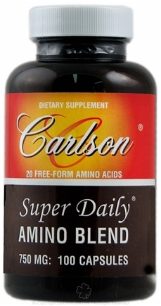 DROPPED: Carlson Labs - Super Daily Amino Blend 750 mg. - 100 Capsules