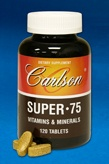 DROPPED: Carlson Labs - Super-75 Vitamins & Minerals - 180 Tablets