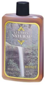 DROPPED: Clearly Natural - Glycerine Soap Anti-Bacterial Refill - 16 oz.