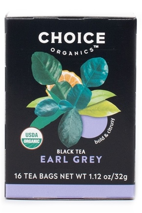 Choice Organic Teas - Earl Grey Tea - 16 Tea Bags