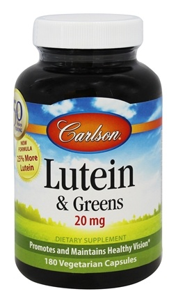 Carlson Labs - Lutein & Greens 20 mg. - 180 Capsules Formerly Lutein 15 mg + Kale