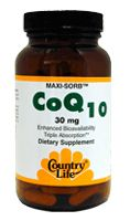 DROPPED: Country Life - Maxi-Sorb Coq Q-Gel 30 mg. - 90 Softgels