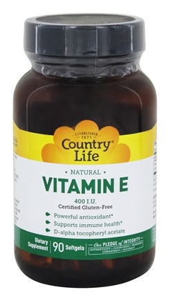 Country Life - Natural Vitamin E 400 IU - 90 Softgels
