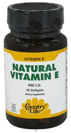 DROPPED: Country Life - Natural Vitamin E 400 IU - 30 Softgels CLEARANCE PRICED