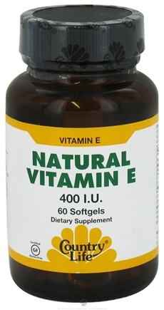DROPPED: Country Life - Natural Vitamin E 400 IU - 60 Softgels CLEARANCE PRICED