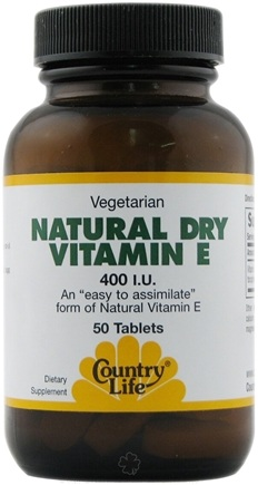 DROPPED: Country Life - Vitamin E Dry 400 IU - 50 Tablets