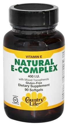 Country Life - Natural Vitamin E Complex with Mixed Tocopherols 400 IU - 90 Softgels