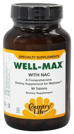 DROPPED: BioChem by Country Life - Well-Max With Nac - 90 Tablets