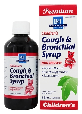 Boericke & Tafel - Cough & Bronchial Syrup for Children Cherry Flavor - 8 oz.