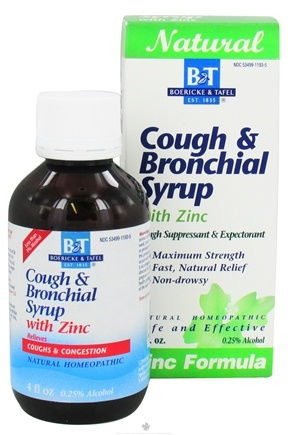 DROPPED: Boericke & Tafel - Cough Bronchial Syrup with Zinc - 4 oz. CLEARANCE PRICED