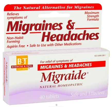 DROPPED: Boericke & Tafel - Migraide - 40 Tablets CLEARANCED PRICED