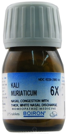 DROPPED: Boiron - Kali Muriaticum 6 X - 275 Tablets