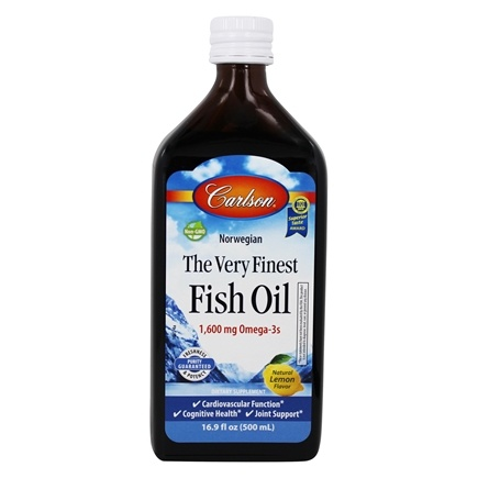 Carlson Labs - The Very Finest Norwegian Fish Oil Liquid Omega-3's DHA & EPA Lemon Flavor - 16.9 oz.