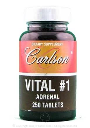 DROPPED: Carlson Labs - Vital #1 Adrenal 100 mg. - 250 Tablets