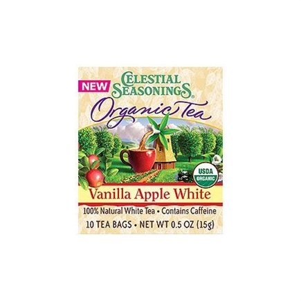 DROPPED: Celestial Seasonings - Vanilla Apple White Organic Tea - 10 Tea Bags