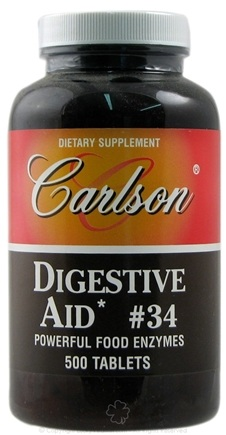 DROPPED: Carlson Labs - Digestive Aid #34 - 500 Tablets