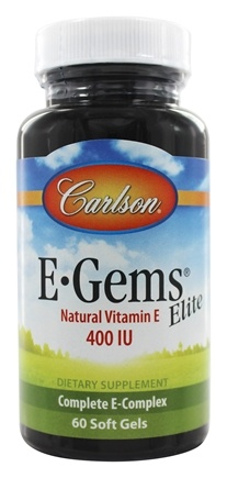 Carlson Labs - E-Gems Elite Natural Vitamin E 400 IU - 60 Softgels