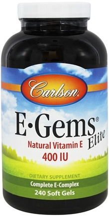 Carlson Labs - E-Gems Elite Natural Vitamin E 400 IU - 240 Softgels