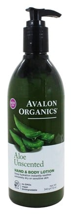 Avalon Organics - Hand & Body Lotion Aloe Unscented - 12 oz.