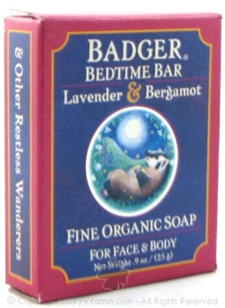 DROPPED: Badger - Bedtime Bar Lavender & Bergamot Trial Soap - 0.9 oz.