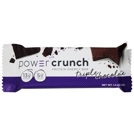 BioNutritional Research Group - Power Crunch High Protein Energy Wafer Bar Triple Chocolate - 1.4 oz.