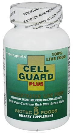 DROPPED: Biotec Foods - Cell Guard Plus Concentrated Live Food Antioxidant Enzymes - 170 Caplets CLEARANCE PRICED