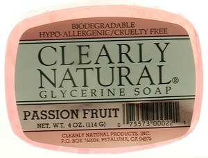 DROPPED: Clearly Natural - Glycerine Soap Passion Fruit - 4 oz.
