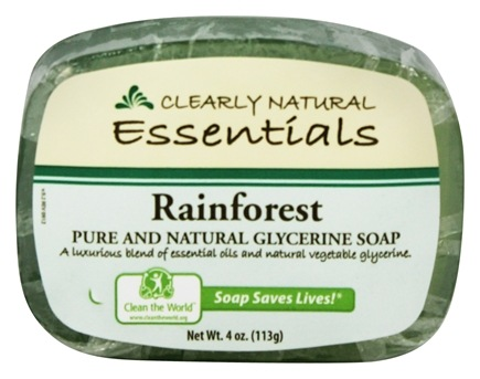 Clearly Natural - Glycerine Soap Bar Rainforest - 4 oz.