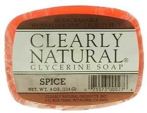 DROPPED: Clearly Natural - Glycerine Soap Spice - 4 oz.