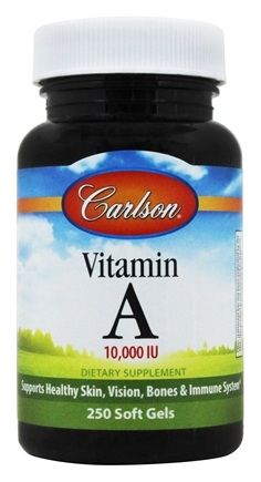 Carlson Labs - Vitamin A Natural 10000 IU - 250 Softgels