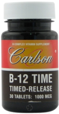 DROPPED: Carlson Labs - B-12 Time 1000 mcg. - 30 Tablets