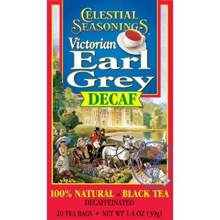 DROPPED: Celestial Seasonings - Victorian Earl Grey Decaf Black Tea - 20 Tea Bags