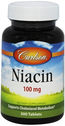 DROPPED: Carlson Labs - Niacin 100 mg. - 300 Tablets CLEARANCE PRICED