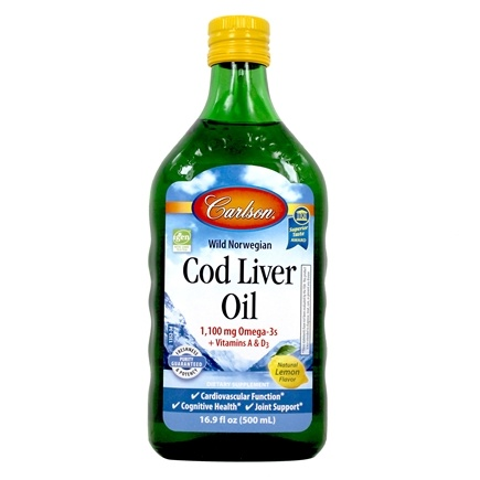 Carlson Labs - Norwegian Cod Liver Oil Liquid Lemon Flavor - 16.9 oz.