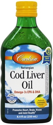 Carlson Labs - Norwegian Cod Liver Oil Liquid Lemon Flavor - 8.4 oz.