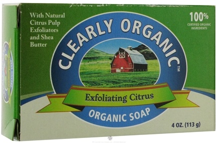 DROPPED: Citrus Magic - Clearly Organic Bar Soap Exfoliating Citrus - 4 oz. Formerly Organic Exfoliating Lemon Bar Soap CLEARANCE PRICED