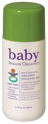 DROPPED: Avalon Organics - Baby Massage Oil Moisturizing Organic - 5.5 oz.