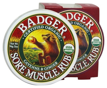 Badger - Sore Muscle Rub Cayenne & Ginger - 2 oz.