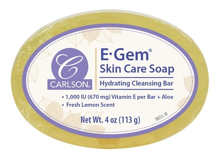 Carlson Labs - E-Gem Soap with Aloe Vera & Vitamin A & E 1000 IU - 4 oz.